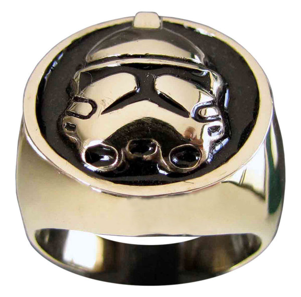 Stormtrooper Ring Star Wars Darkside Motif in Bronze