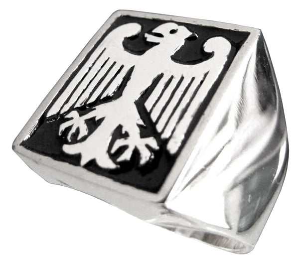 Bundesadler Federal Eagle Ring German Coat of Arms in Sterling Silver