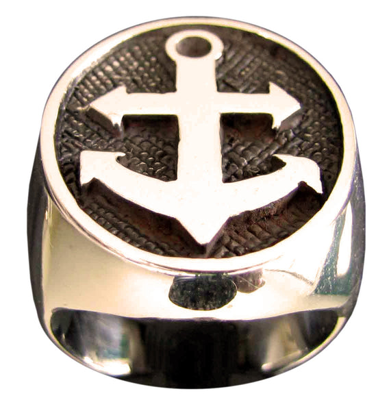 Boat Anchor Ring Sailor Yacht in Bronze - Size 16