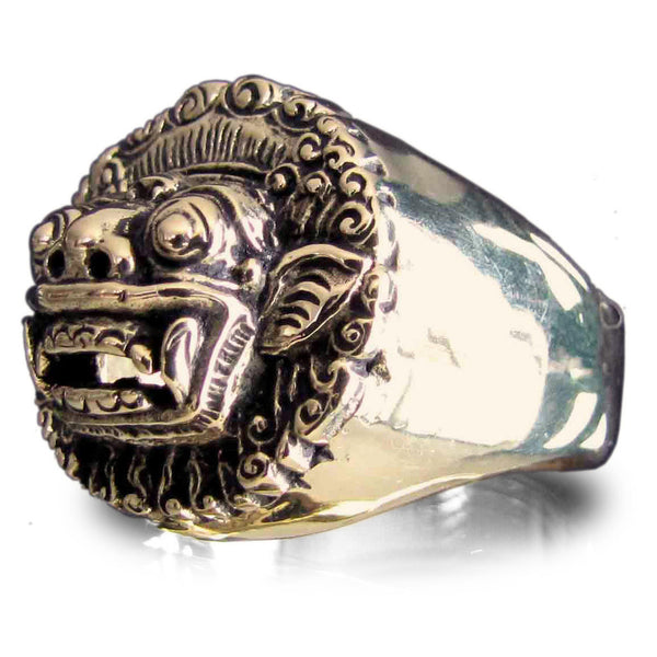 Bronze Garuda Ring Barong the Bali Spirit Leader