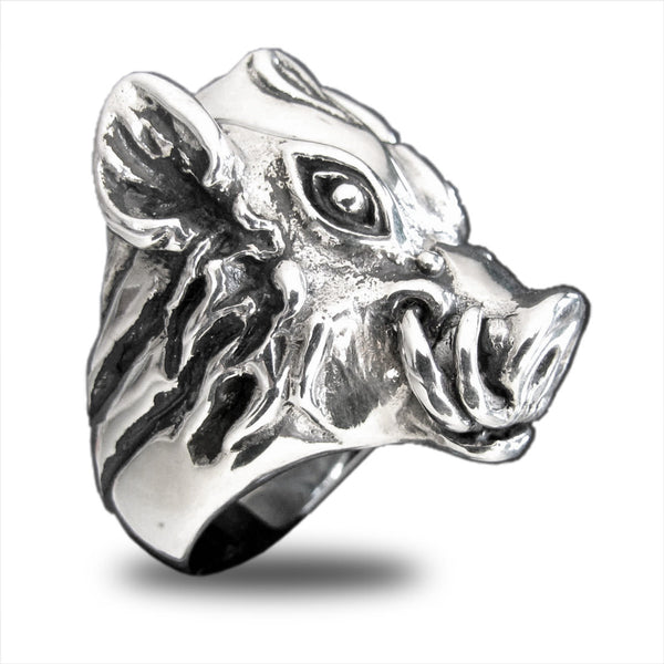 Wild Boar Ring Pumba Warthog in Sterling Silver 925
