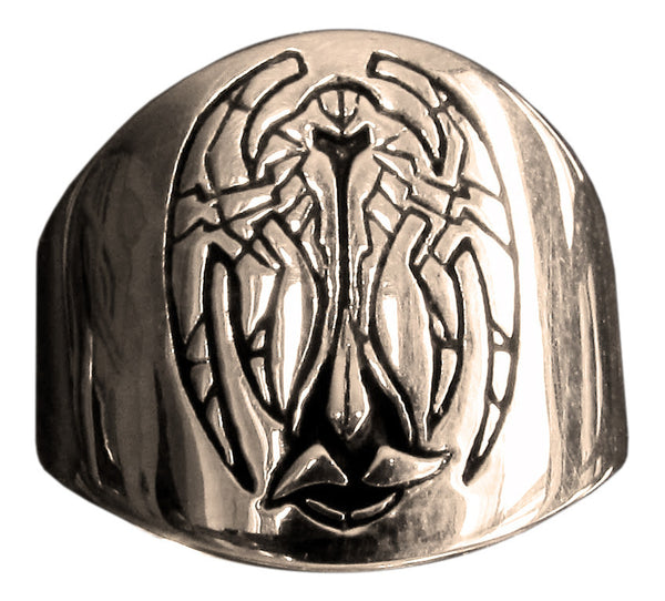 Star Trek Klingon Ring Cardassian Alliance Coat of Arms in Bronze - Size 16