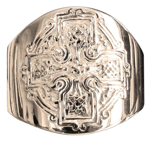 Celtic Knot Cross Ring in Bronze - Size 16
