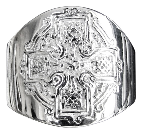 Celtic Knot Cross Ring in Sterling Silver 925