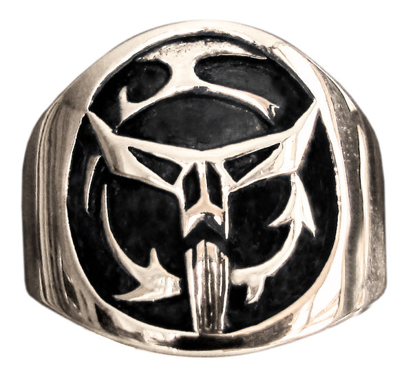 Star Wars Boba Fett Ring Mandalorean Coat of Arms in Bronze - Size 16