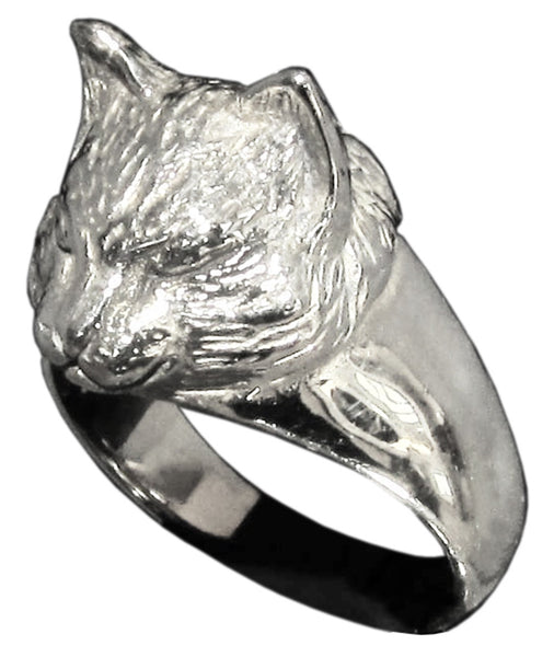 Sculpted Cat Ring Feline in Sterling Silver 925