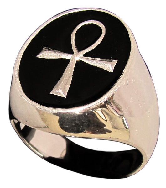 Egyptian Ankh Ring Symbol of Eternal Life in Bronze - Size 16