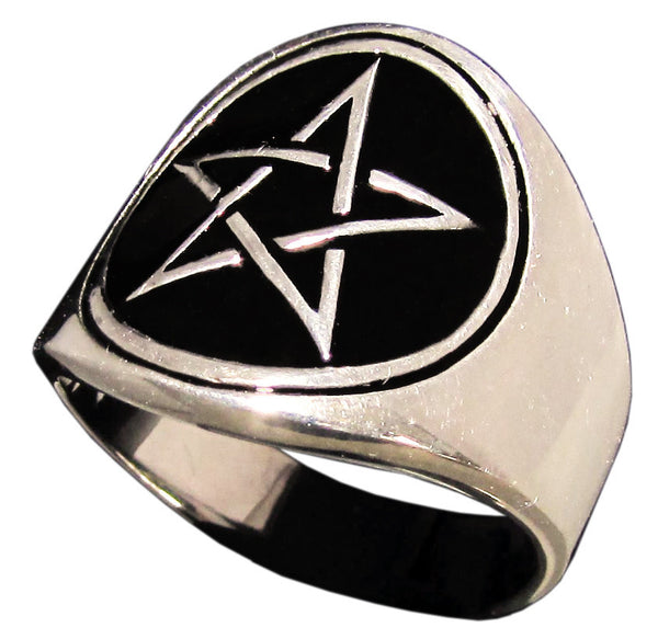 Woven Pentagram Ring Wicca Pentacle Sacred Geometry in Bronze - Size 16