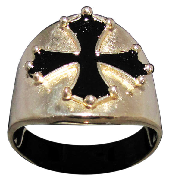 Cathar Cross Ring Catharism Symbol in Bronze - Size 16