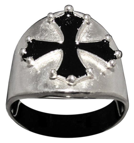Cathar Cross Ring Catharism Symbol in Sterling Silver 925