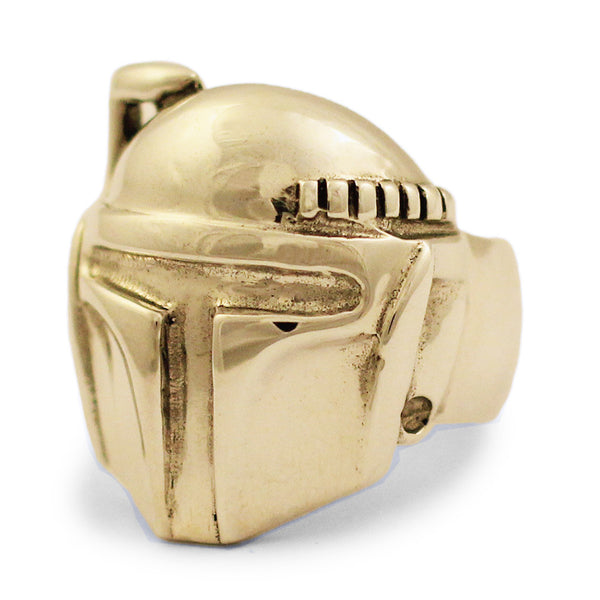 Bronze Boba Fett Ring - Star Wars Mandalorian Bounty Hunter Ring