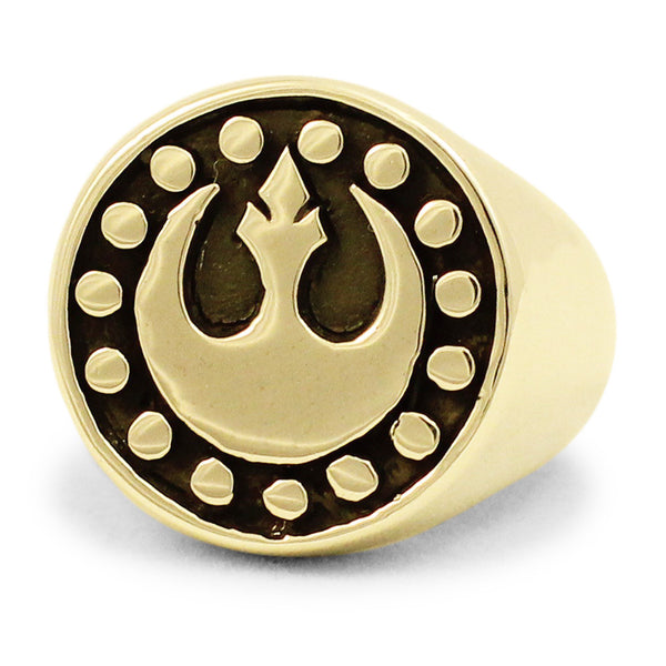 Bronze Star Wars REBEL ALLIANCE Ring The StarBird Insignia New Republic