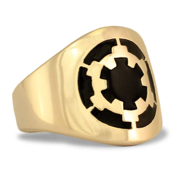 Star Wars Death Star Ring Darth Vader Republic Symbol in Bronze