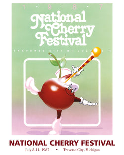 1987 National Cherry Festival Print