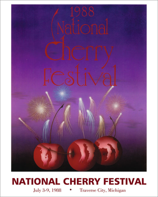 1988  National Cherry Festival Print