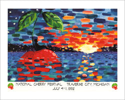 1992 National Cherry Festival Print