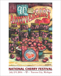 2016 90th Anniversary National Cherry Festival Print