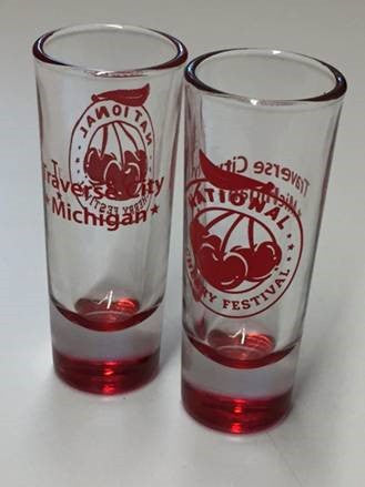 National Cherry Festival Logo 2 oz Shot Glass