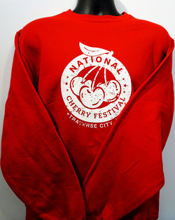National Cherry Festival Logo Adult Crew Sweatshirt