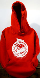 National Cherry Festival Logo Adult Hooded Sweatshirt