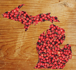 Cherry Filled Michigan Decal