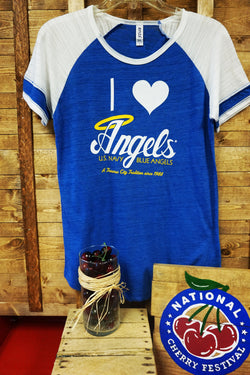 U.S. Navy Blue Angels Ladies TriBlend Colorblock Tshirt