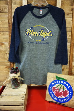 U.S. Navy Blue Angels TriBlend Baseball T-shirt