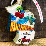 Michigan Blown Glass Ornament