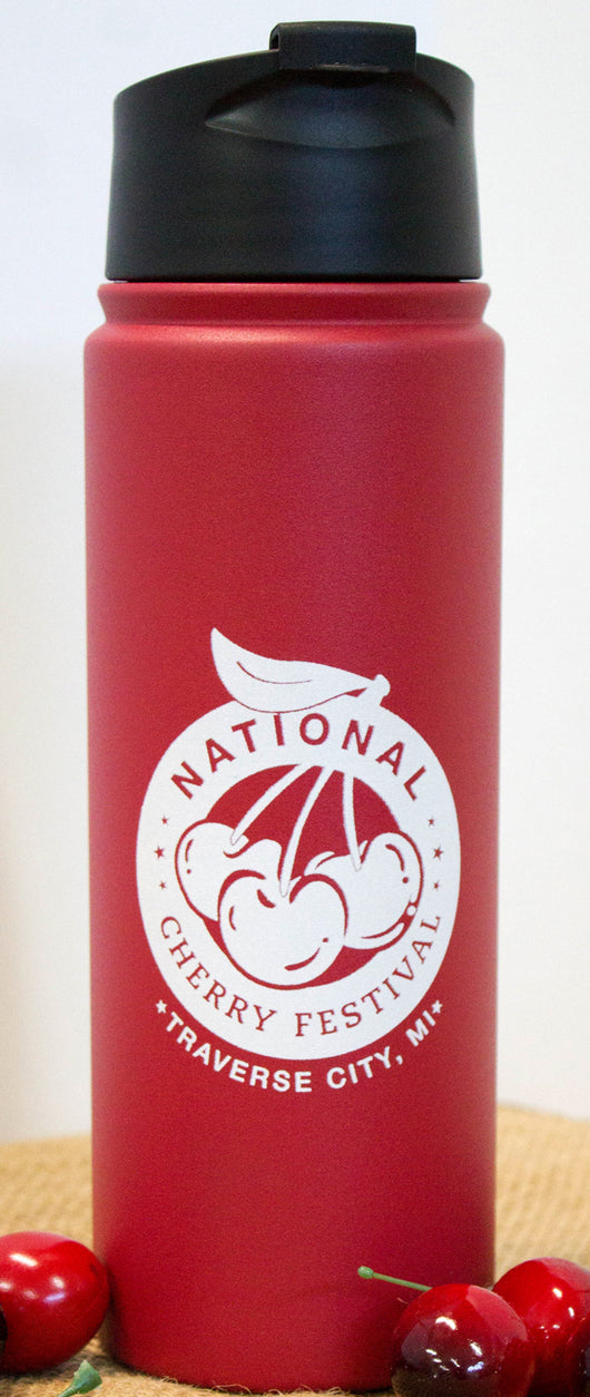 National Cherry Festival 20 oz Travel Bottle