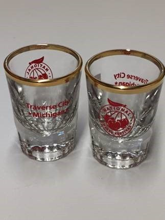 National Cherry Festival Logo Fluted Shot Glass