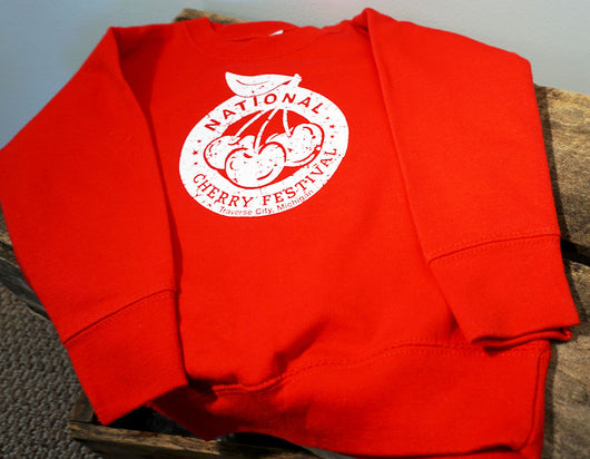 National Cherry Festival Logo Toddler Crew Sweatshirt