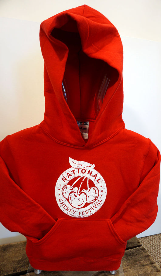 National Cherry Festival Logo Youth Hooded Sweatshirt