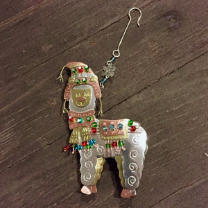Whimsical Alpaca Ornaments