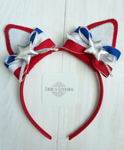 Patriotic Kitty Ear Headband or Ear Clip Set