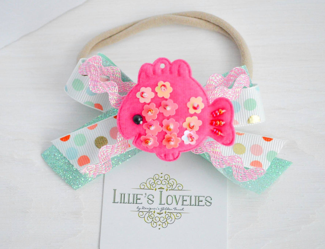 ~*Fishy, Fishy*~ Under the Sea Headband or Clip