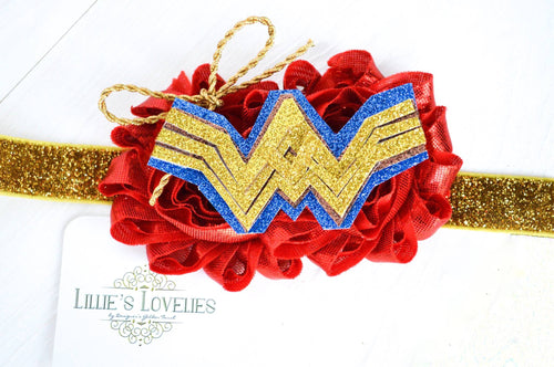 ~*Wonder Woman*~ Superhero Headband or Clip