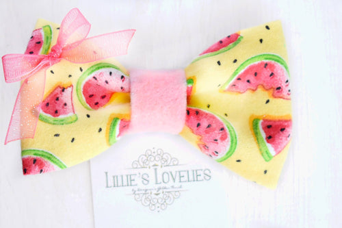 ~*Watermelon Patch*~ Watermelon Bow Clip or Headband