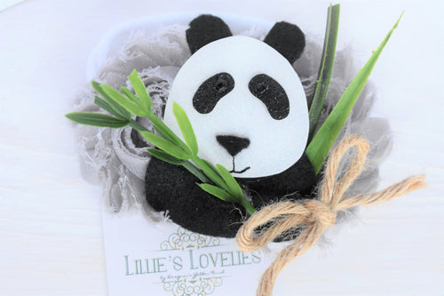 ~*Furry Friend*~ Hand-cut Panda Bear Headband or Clip