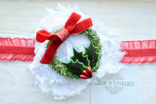 ~*Jolly Holiday*~ Christmas Wreath Headband or Clip