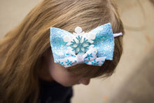 ~*Frozen*~ White and Blue Headband or Clip