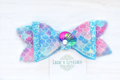 ~*Blue Mermaid Lagoon*~ Headband or Clip