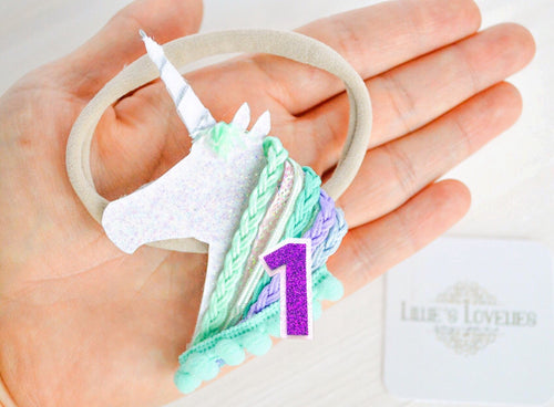 ~*Unicorn Party*~ Birthday Headband or Clip