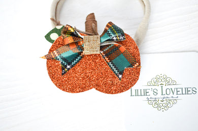 ~*Cute as a Pumpkin*~ Fall Headband or Clip