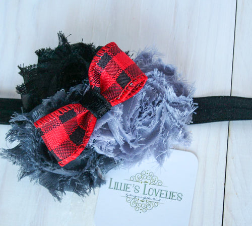 ~*Buffalo Plaid Beauty*~  Headband or Clip