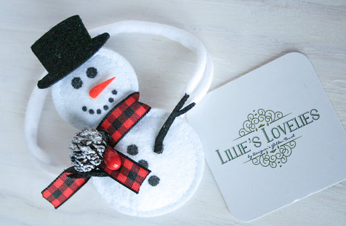 ~*Snow Day*~ Snowman Headband or Clip