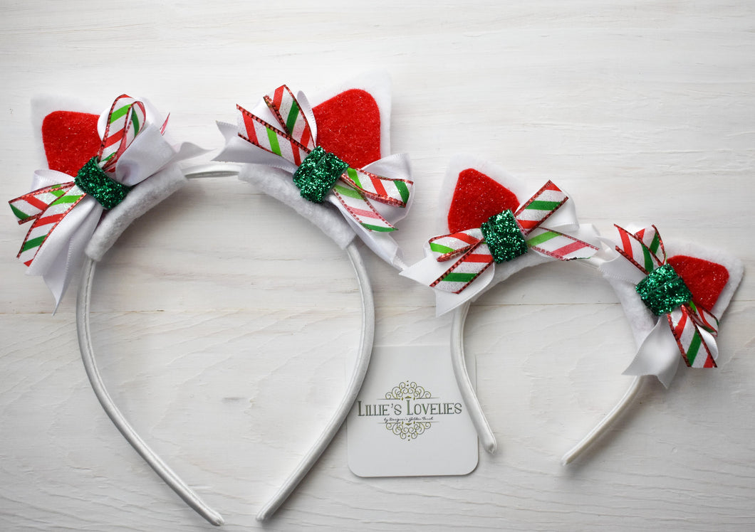 ~*Christmas Kitty*~ Holiday Kitty Animal Ears for Ladies, Girls, & Dolls