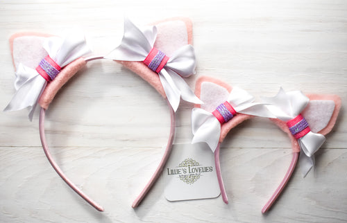 ~*Purrfection*~ Pink Kitty Animal Ears for for Ladies, Girls, & Dolls