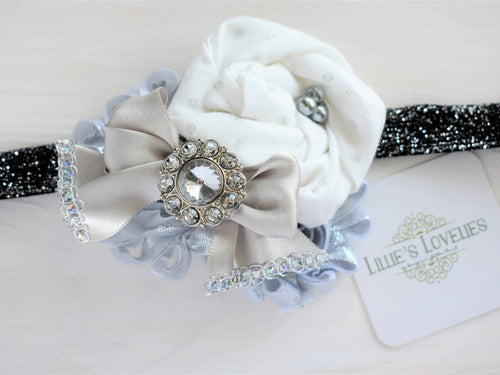 ~*Sparkle*~ Silver New Years Headband Or Clip