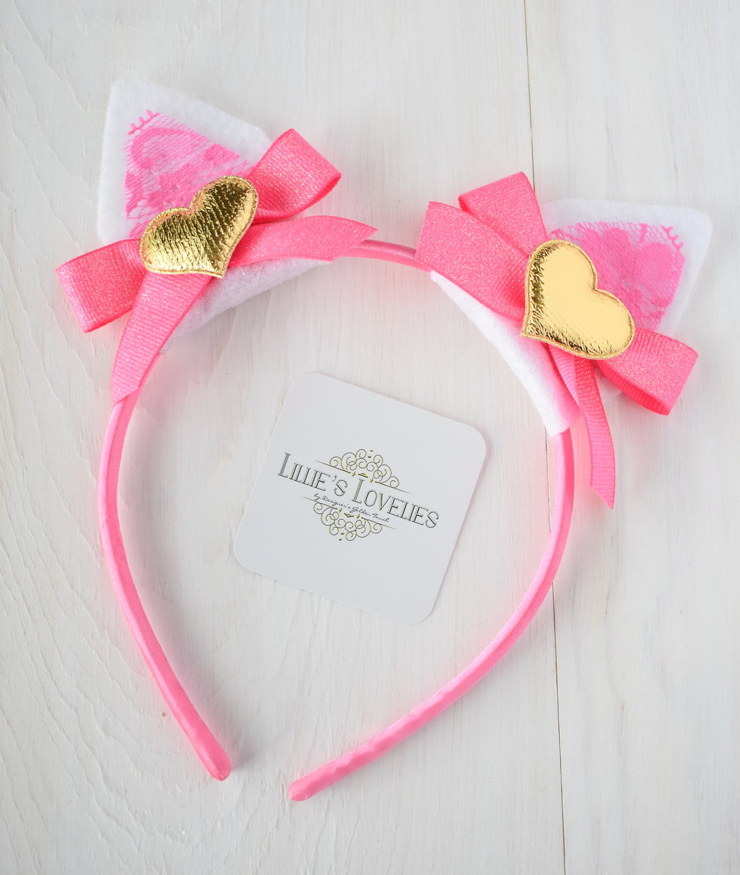 ~* Pink Kitty Love*~ Valentine Animal Ears