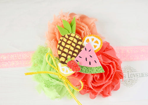 ~*Tutti-Fruity*~Birthday Headband or Clip